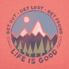 Women's Get Lost Get Found Short Sleeve Crusher Tee | Outdoor Tee Shirts | Life is good
