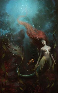 The little mermaid, Melanie Delon on ArtStation at https://www.artstation.com/artwork/klw4d