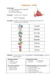english teaching worksheets finding nemo english resources english teaching worksheets finding nemo