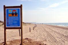 Zona preferentment nudista a la platja dels Muntanyans, Torredembarra