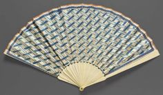 Wallpaper or dominoterie fan. French, late 18th–early 19th century - in the Museum of Fine Arts Boston.