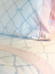 0b1b1b7c65 Sleep Tight Sheet Set - Belle Meade Bow Buckhead Blue with Plantation Pink