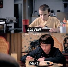 Eleven and Mike! Stranger Things Actors, Bobby Brown Stranger Things, Stranger Things Quote, Stranger Things Have Happened, Stranger Things Aesthetic, Eleven Stranger Things, Stranger Things Netflix, Stranger Things Season 3, Admirateur Secret