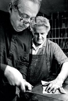 Pierre Soulages Printing in Patis