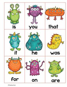 Fun sight word games for early or struggling readers. Word Games For Kids, Sight Word Games, Baby Phonics, Educational Activities For Toddlers, Fun Activities, Word Work Stations, Teaching Sight Words, Kindergarten Readiness, Teaching Skills