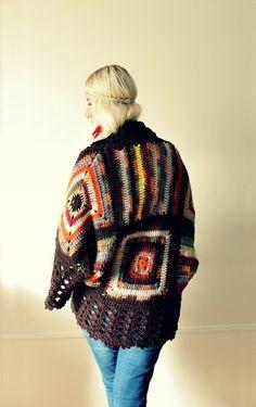 Afghan Crochet Cardigan by LoveandKnit on Etsy, $125.00