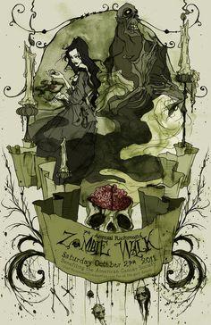 Zombie Walk Poster 2011 by AbigailLarson on DeviantArt