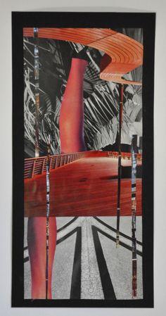 'Podróż I' | JLWojinski | handcut and assembled found image collage Saatchi listing for original