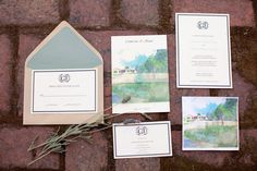 Backyard Santa Cruz Wedding from Danielle Gillett Photography Watercolor Invitations, Invitation Paper, Wedding Invitation Cards, Wedding Stationery, Invitation Ideas, Wedding Pins, Wedding Paper, Our Wedding, Wedding Ideas