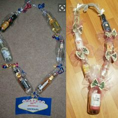 Liquor Lei for 21st Birthday!
