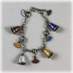Vintage Siam Sterling Silver Multi Colored by JunkboxTreasures, $60.00