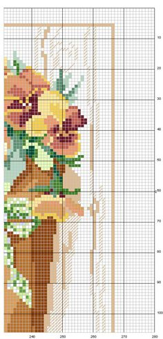 Schema punto croce Vasi-fiori-7