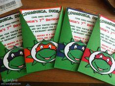 Teenage Mutant Ninja Turtles- Inspired Birthday Invitations