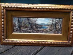$27 2018 This painting is same size & frame as ours. Sticker on back appears to be the same as well. Painting By S Gruber Oil On Panel | #485547256 Vintage Art Prints, Sticker, Oil, Frame, Painting, Picture Frame, Painting Art, Stickers, Paintings