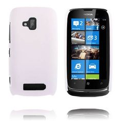 Hard Shell (Hvit) Nokia Lumia 610 Deksel