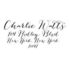 *NEW* Charlie Script Stamp