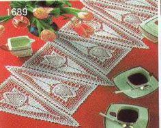 Arte e croche: Centro tulipas