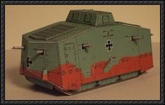WWI A7V Tank Paper Models Free Download
