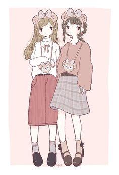"""あやた trên Twitter: """"ディズニーシー コーデ🐻🎀🎨🐰… """" Anime Outfits, Disney Outfits, Duffy The Disney Bear, Phone Wallpaper Design, Clothing Sketches, Chibi Girl, Avatar Couple, Couple Outfits, Kawaii Outfit"""