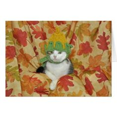 Tabby and white cat for Autumn card - thanksgiving greeting cards family happy thanksgiving Thanksgiving Greeting Cards, Happy Thanksgiving, Cat Cards, Personalized Note Cards, Cats And Kittens, Fall, Autumn, Kitty, Tapestry