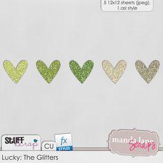 Lucky Glitter by Manda Lane Scraps
