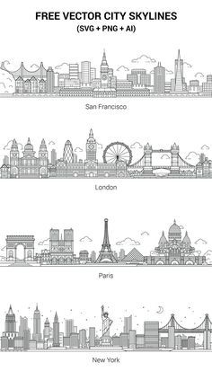 The vectors are free to use for any commercial or non-commercial projects. If you like this set, any feedback will be appreciated and we'll add more cities.