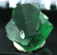 Fluorite Green interpenetrating cubic Crystals by BandLMinerals