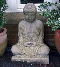 Large Garden Ornaments Meditation Stone Buddha Statue. Buy now at http://www.statuesandsculptures.co.uk/meditation-stone-buddha-statue-large-garden-ornaments