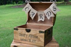 Shabby Chic and Rustic Wooden Card Box Rustic by CountryBarnBabe