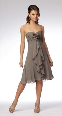 bridesmaid- maybe in sea blue, emerald green or red- definitely like the flowy aspect