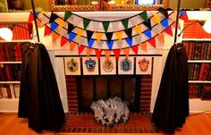 Banner at a Harry Potter birthday party! See more party ideas at CatchMyParty.com!