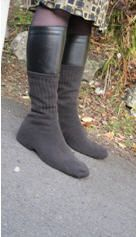 Wearing socks over shoes is a cheap, simple and effective method of preventing winter slips, falls and accidents and won the Physics Ig in 2010.