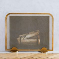 Add a touch of art deco style to your fireplace with this firewood holder, crafted from durable steel and sized to fit a few armfuls of logs. Modern Fireplace Screen, Metal Fireplace, Fireplace Design, Fireplace Ideas, Decorative Fireplace Screens, Fireplace Mantles, Electric Fireplace, Industrial Fireplaces, Marble Fireplaces