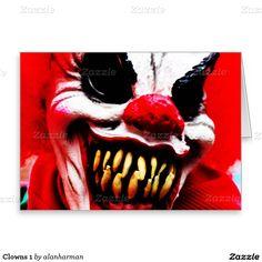 Clowns 1 greeting card