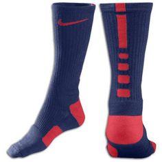 b1c9bf6b27e1 Nike Elite Basketball Crew Sock - Mens - College Navy University Red  Basketball Games For