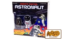 Let your imagination run wild with this deluxe remote control astronaut play set. This little flying astronaut has twin rotor propulsion bright lights.     Answer fun questions and you could win in the Cracker Barrel Old Country Store Pick it to Win it Sweepstakes. Start 'picking' your answers at crackerbarrel.com/win (ends Jan 2, 2013).