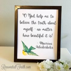 """FREE PRINTABLE - """"O God, help me to believe the truth about myself - no matter how beautiful it is."""" - Macrina Wiederkehr - Coping When Your Child Has A Long-Term Illness or Disability -When Your Child Is Different - Maybe your child has a chronic illness like mine did. Perhaps your son or daughter has special needs or a learning disability. Or maybe they see the world a little differently. As a mom, you might struggle with feeling your child is different."""