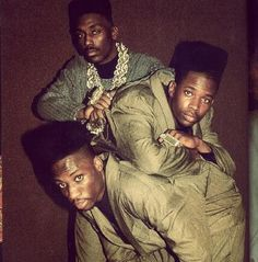 Big Daddy Kane & his dancers in the high -top fade hairstyle and tracksuits…