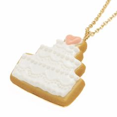 Cake Sugar Cookie Necklace (White)