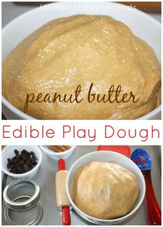 Edible Peanut Butter Play Dough Yummy Sensory Dough!   March is all about Edible Play Dough! I signed on to the 12 months of sensory dough play as a sort of therapy for my son who has a sensory processing disorder diagnosis. He can't stand for his hands to be messy and often needs to wash ...