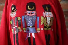 Ugly Christmas Sweater Sweatshirt Red Toy Soldier Size Large #Discus #SweatshirtCrew