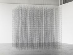 Mona Hatoum, Impenetrable, 2010, steel and fishing wire