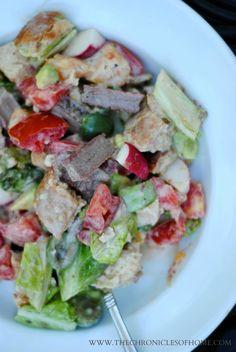 Grilled Flank Steak and Fresh Vegetable Salad