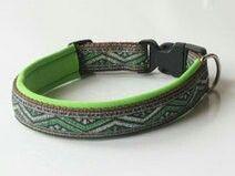 braun-grünes Hundehalsband nach Maß. Preis: 16,95 € Shop-Link: http://de.dawanda.com/product/47249242-Hundehalsband