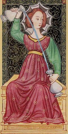 XIV - Tempérance - Golden Tarot of Renaissance par Giordano Berti & Jo Dworkin
