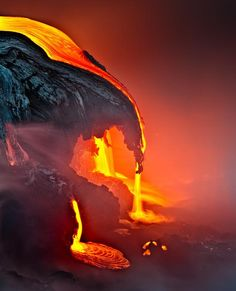 A Night in the Fire - Kilauea, Hawaii.. Image by Samuel FERON