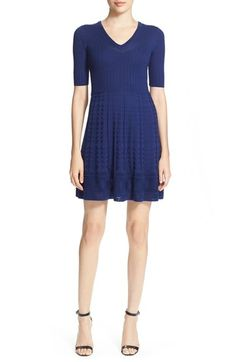 M Missoni Elbow Sleeve Knit Dress