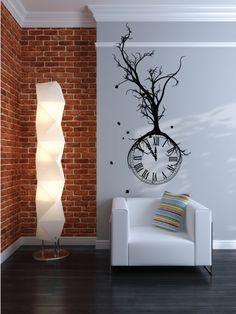 Dead Tree Clock Wall Decal Wall Sticker