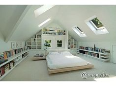 Thrilling Attic renovation cost uk,Attic bedroom decor and Attic renovation diy. Attic Bedroom Designs, Attic Bedrooms, Attic Design, Bedroom Ideas, Attic Loft, Loft Room, Bedroom Loft, Attic Office, Attic Playroom