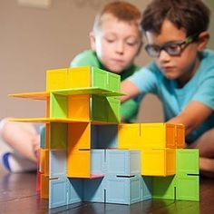 Dado Squares - Original - Building & Construction for Ages 3 to 6 - Fat Brain Toys Three Year Olds, 5 Year Olds, Popular Toys, Toy R, Secret Life Of Pets, Buy Toys, Best Gifts For Her, Imaginative Play, New Tricks
